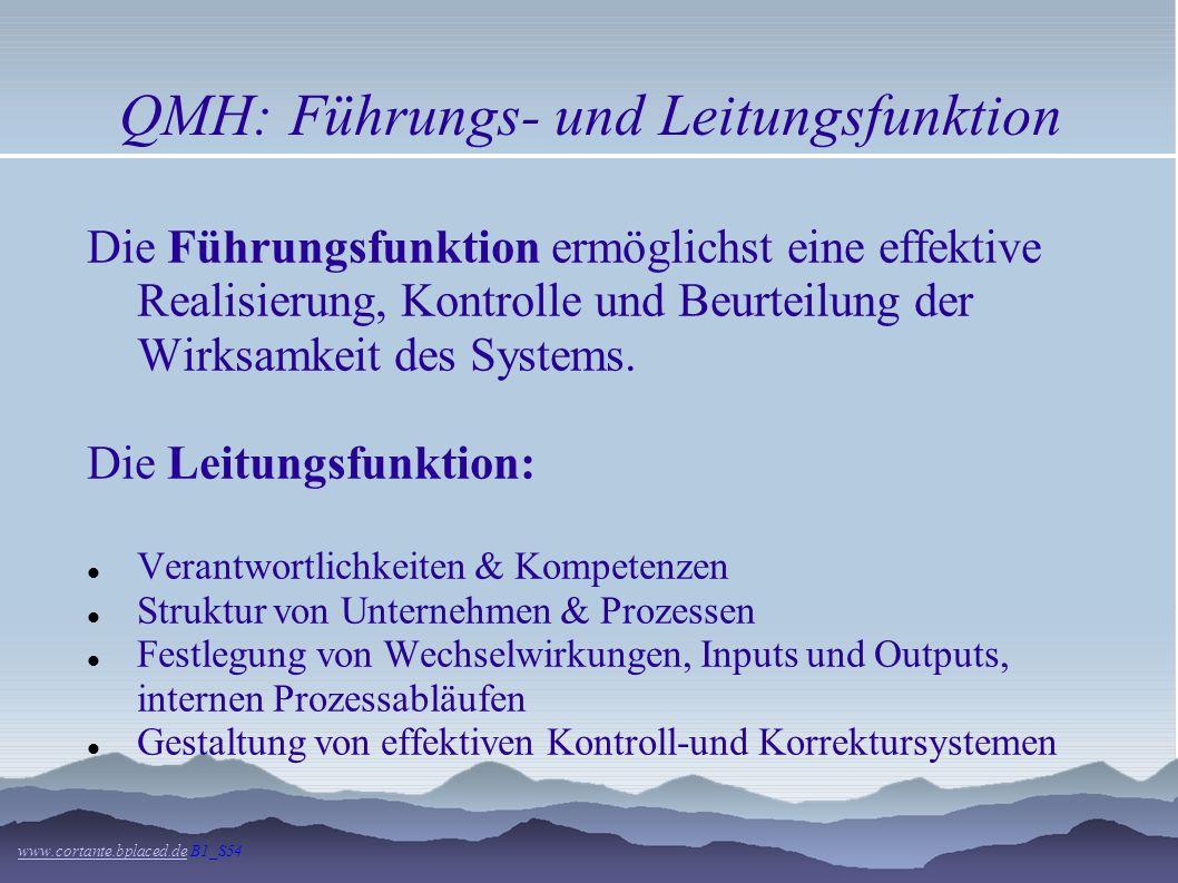 QMH: Führungs- und Leitungsfunktion