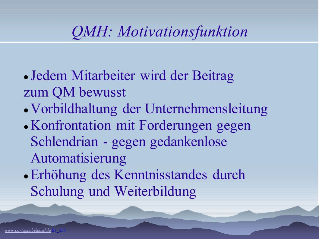 QMH: Motivationsfunktion