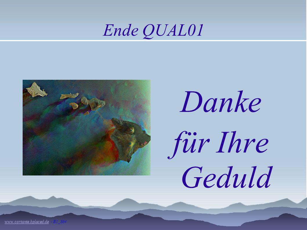 Ende QUAL01 Danke für Ihre Geduld www.cortante.bplaced.de - B1_S64