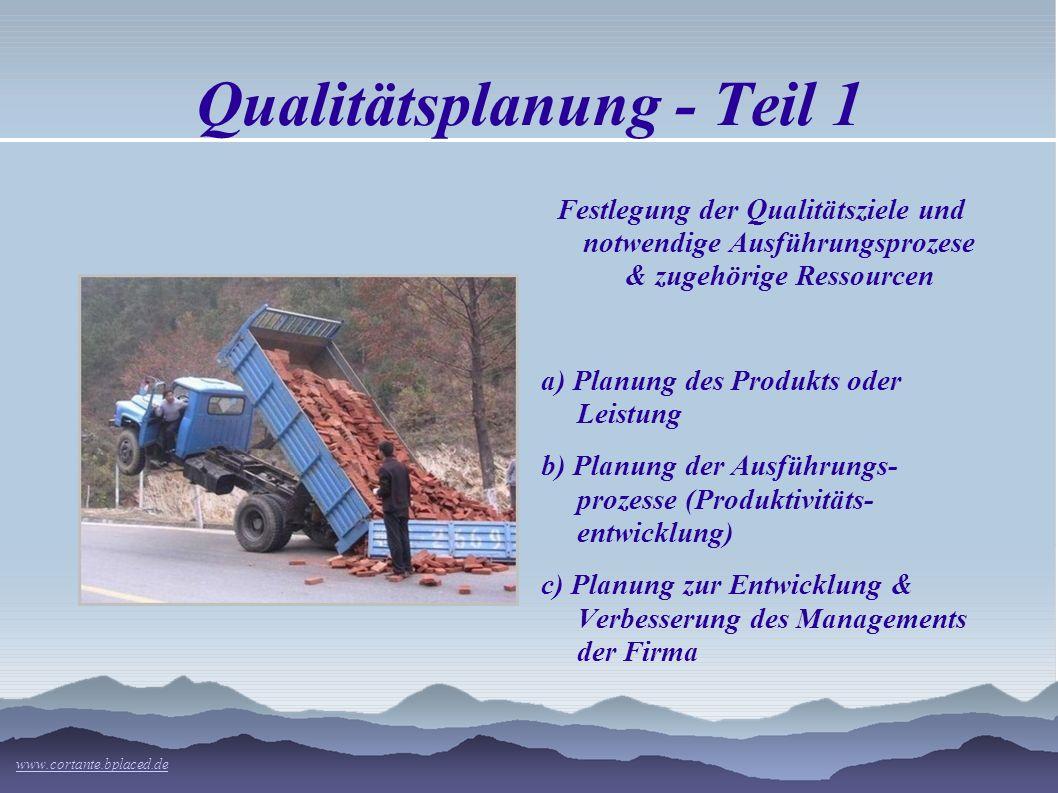 Qualitätsplanung - Teil 1