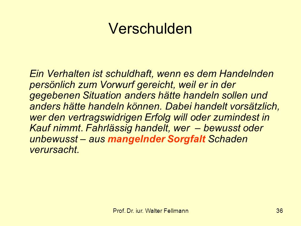 Prof. Dr. iur. Walter Fellmann