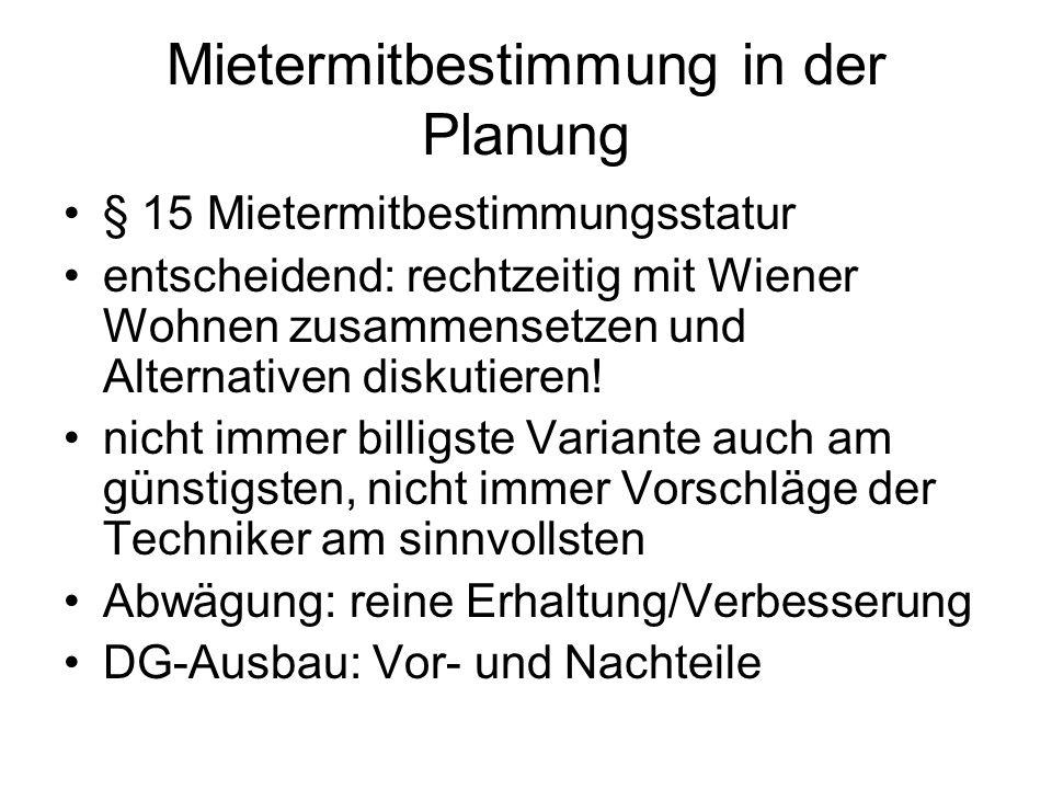 Mietermitbestimmung in der Planung