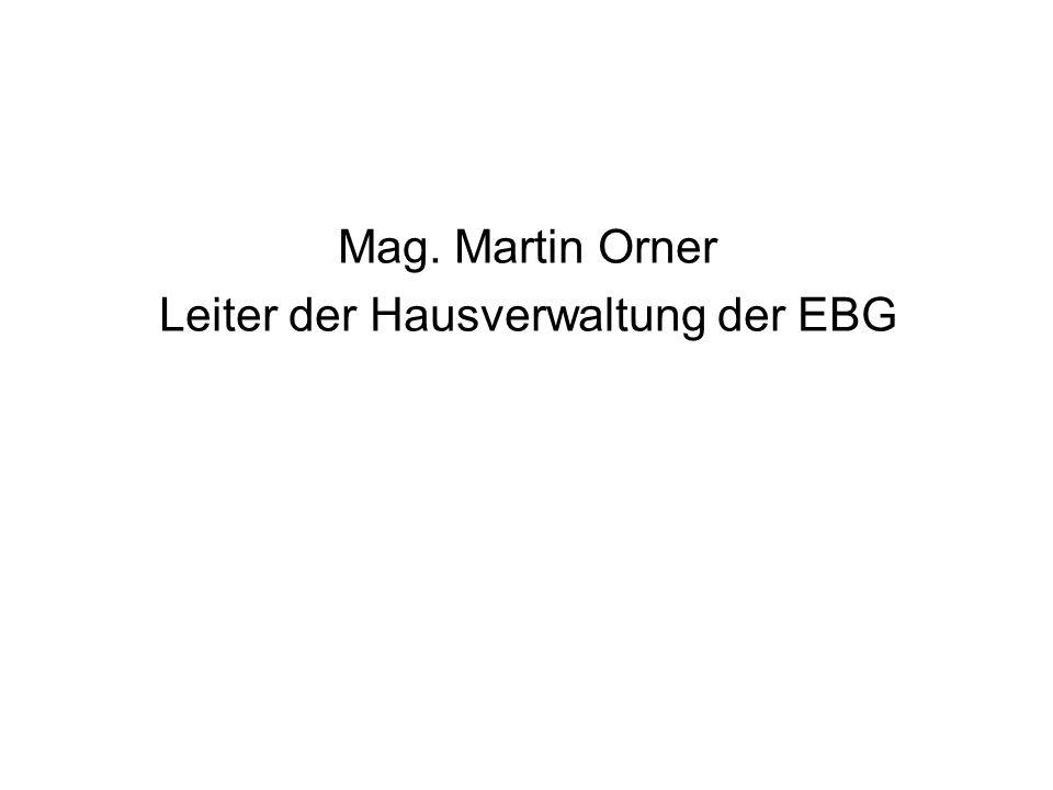 Leiter der Hausverwaltung der EBG