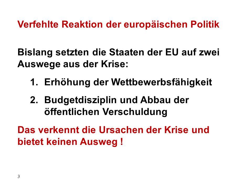 Verfehlte Reaktion der europäischen Politik