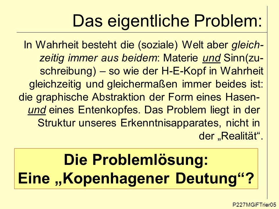 Das eigentliche Problem: