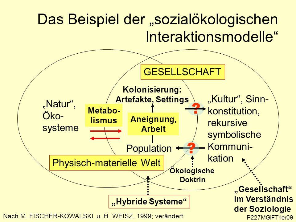 """Das Beispiel der """"sozialökologischen Interaktionsmodelle"""