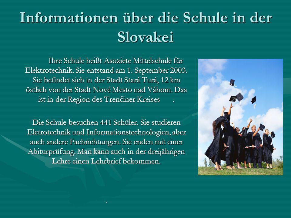 Informationen über die Schule in der Slovakei