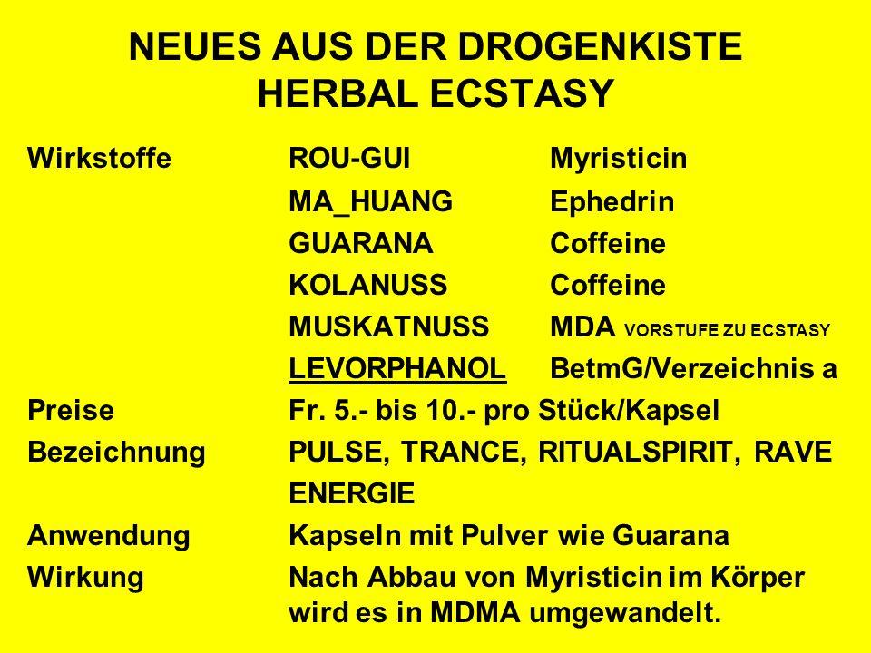 NEUES AUS DER DROGENKISTE HERBAL ECSTASY