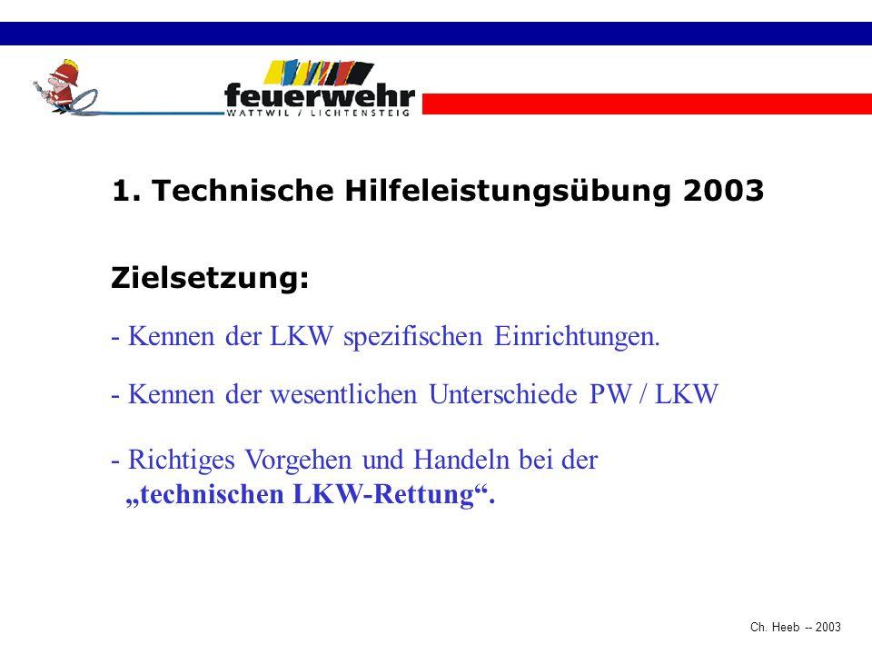 1. Technische Hilfeleistungsübung 2003