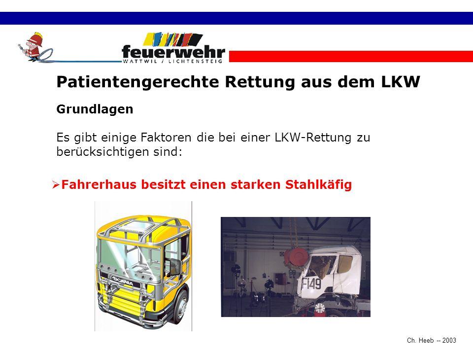 Patientengerechte Rettung aus dem LKW