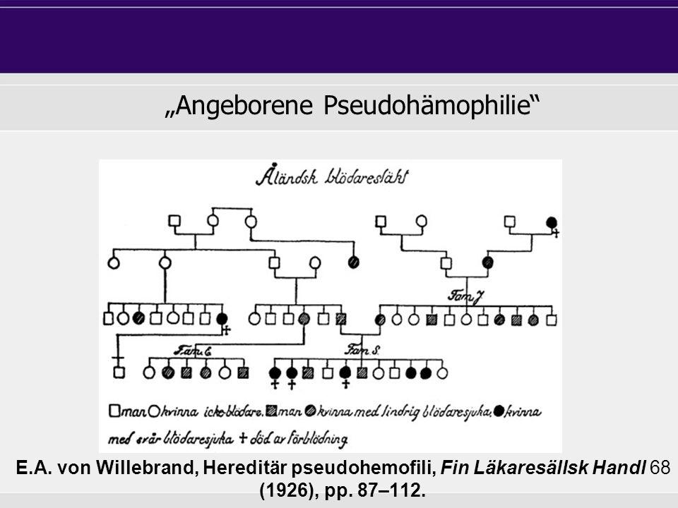 """Angeborene Pseudohämophilie"