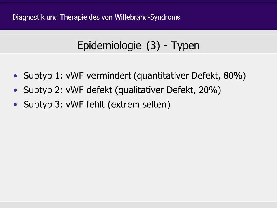 Epidemiologie (3) - Typen