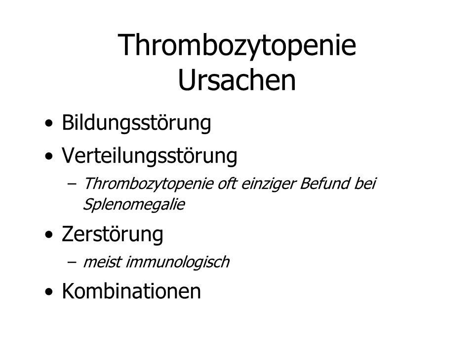 Thrombozytopenie Ursachen