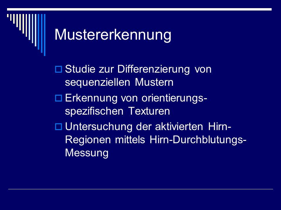 Mustererkennung Studie zur Differenzierung von sequenziellen Mustern
