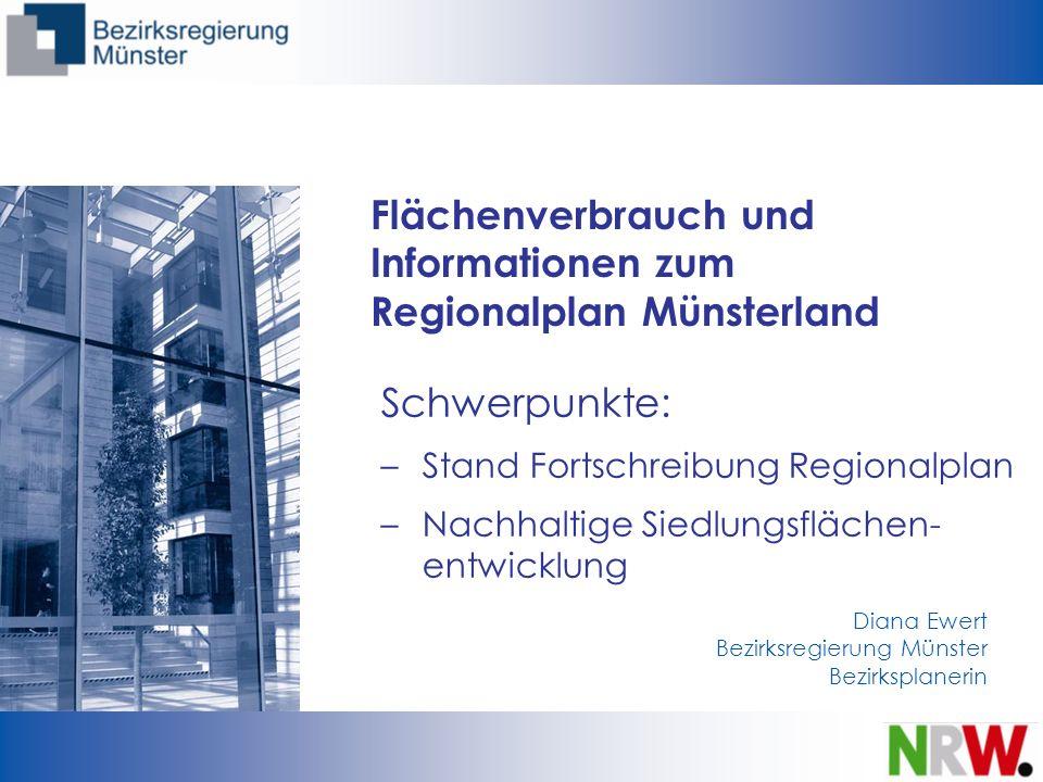 Flächenverbrauch und Informationen zum Regionalplan Münsterland
