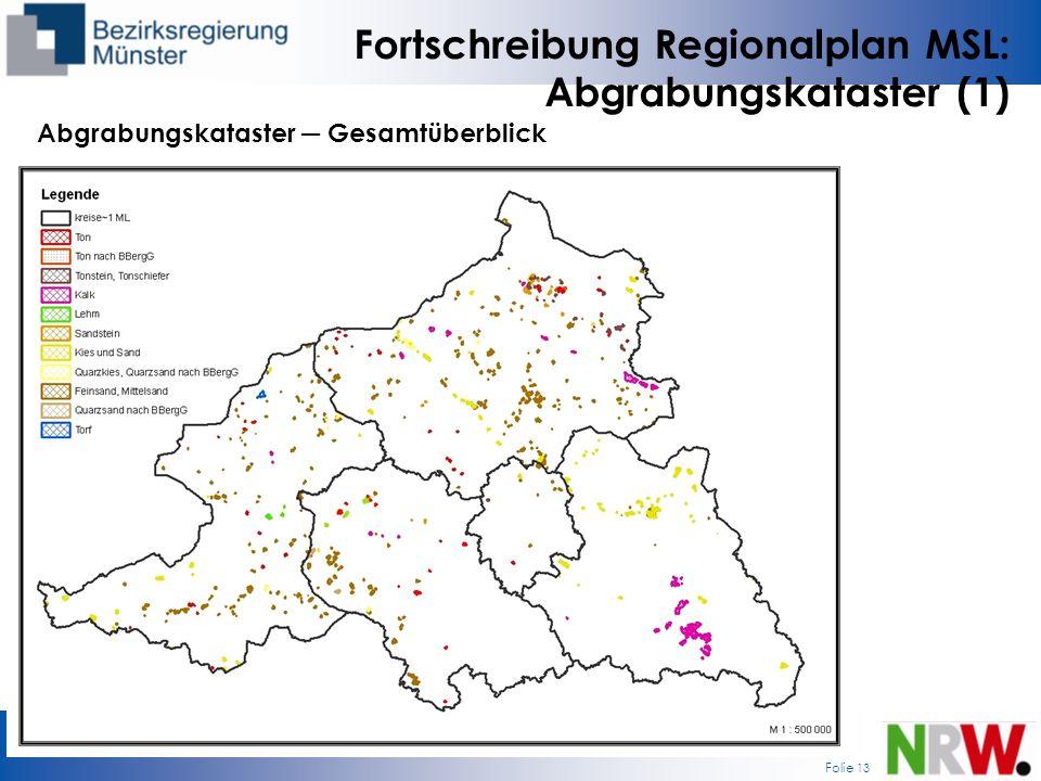 Fortschreibung Regionalplan MSL: Abgrabungskataster (1)