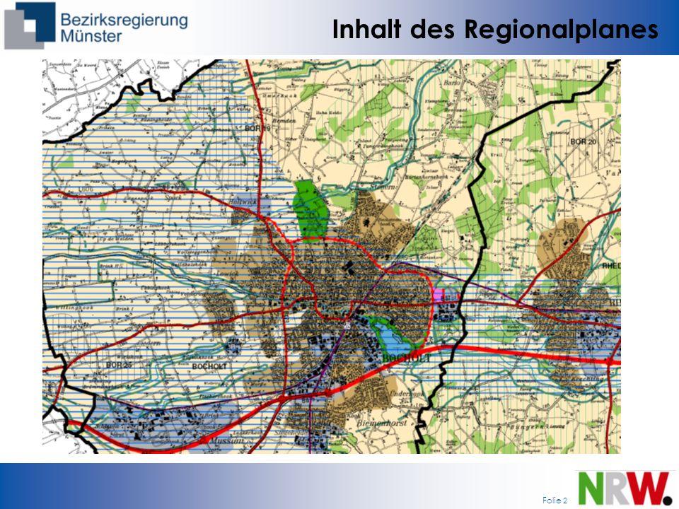 Inhalt des Regionalplanes