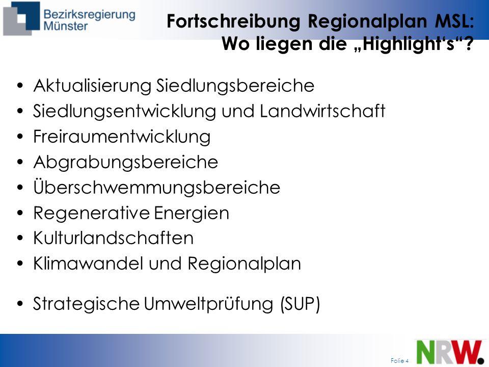 """Fortschreibung Regionalplan MSL: Wo liegen die """"Highlight's"""