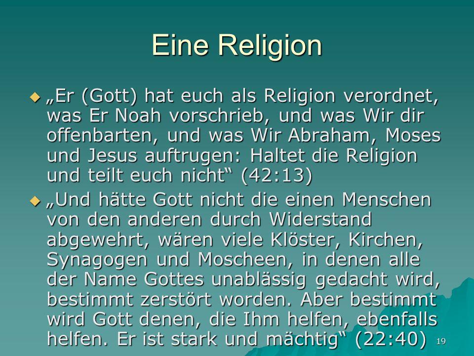 Eine Religion