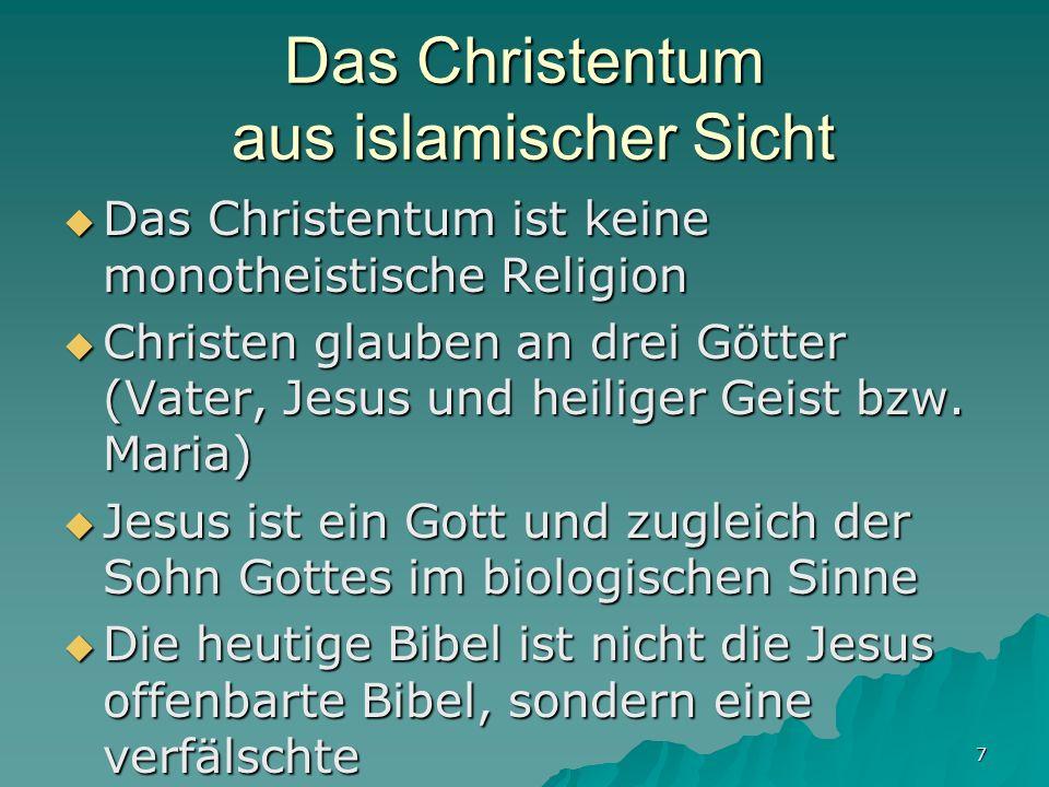 Das Christentum aus islamischer Sicht