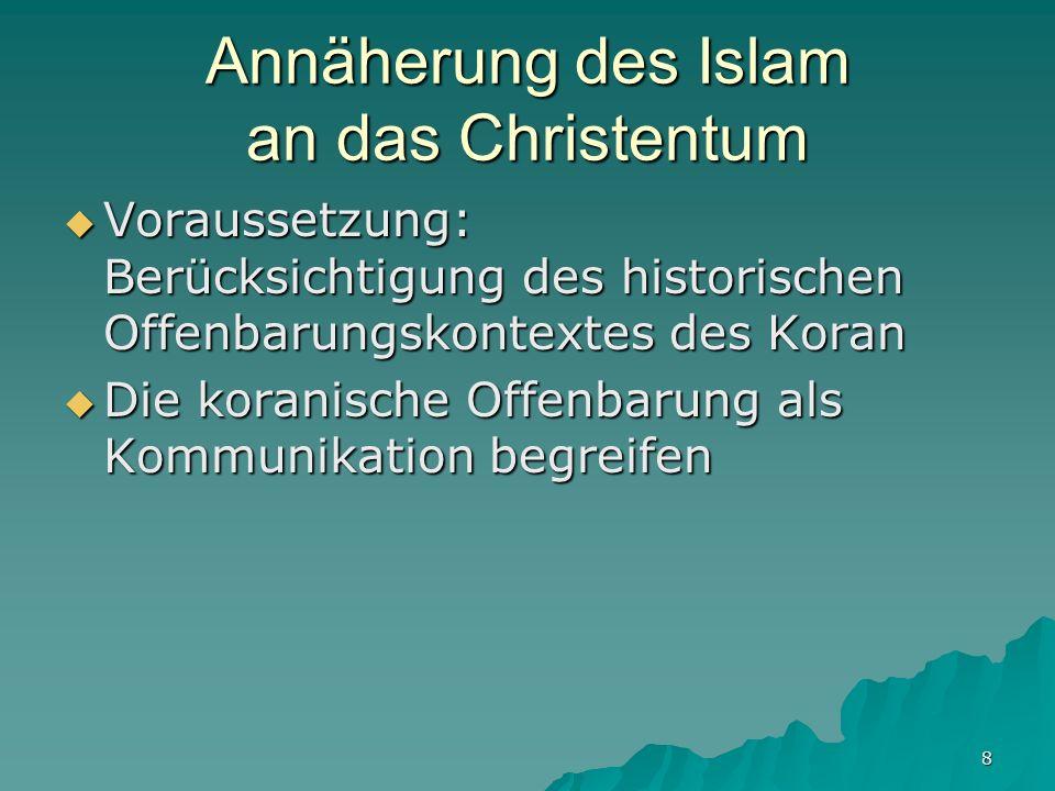Annäherung des Islam an das Christentum