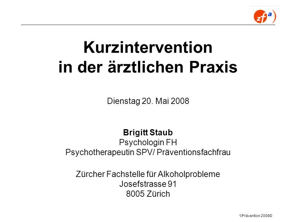 Kurzintervention in der ärztlichen Praxis Dienstag 20