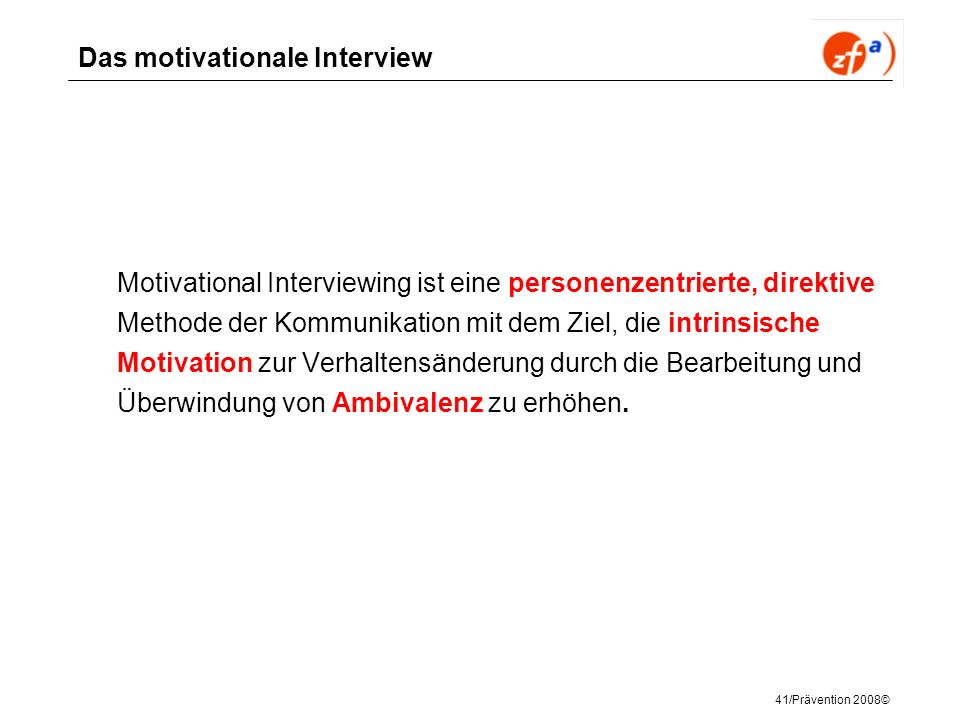 Das motivationale Interview