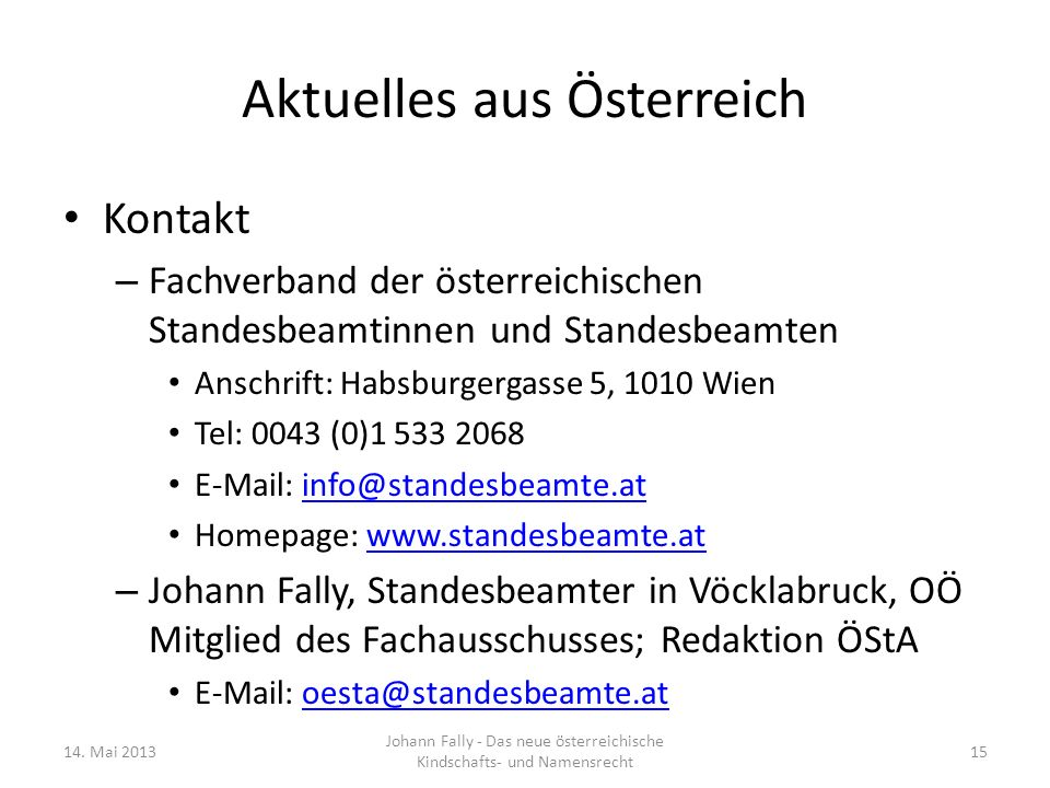 Aktuelles aus Österreich