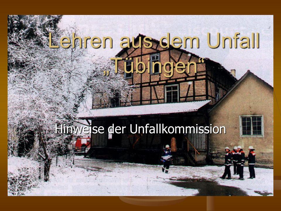 "Lehren aus dem Unfall ""Tübingen"