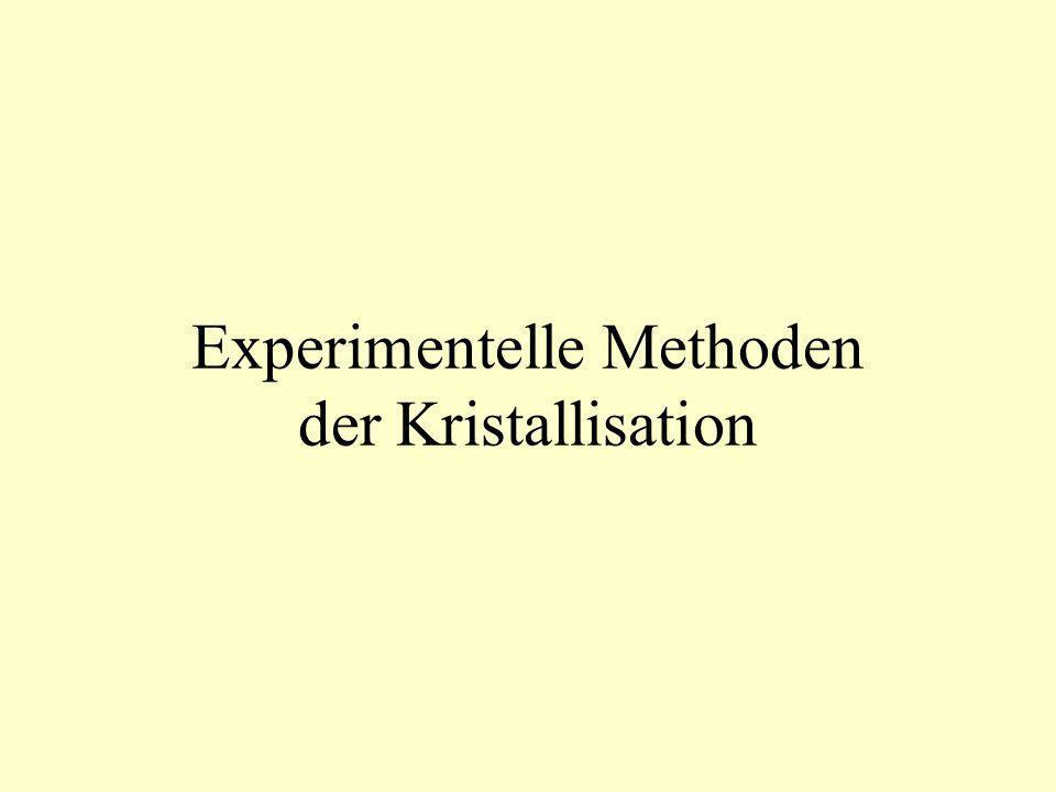 Experimentelle Methoden der Kristallisation