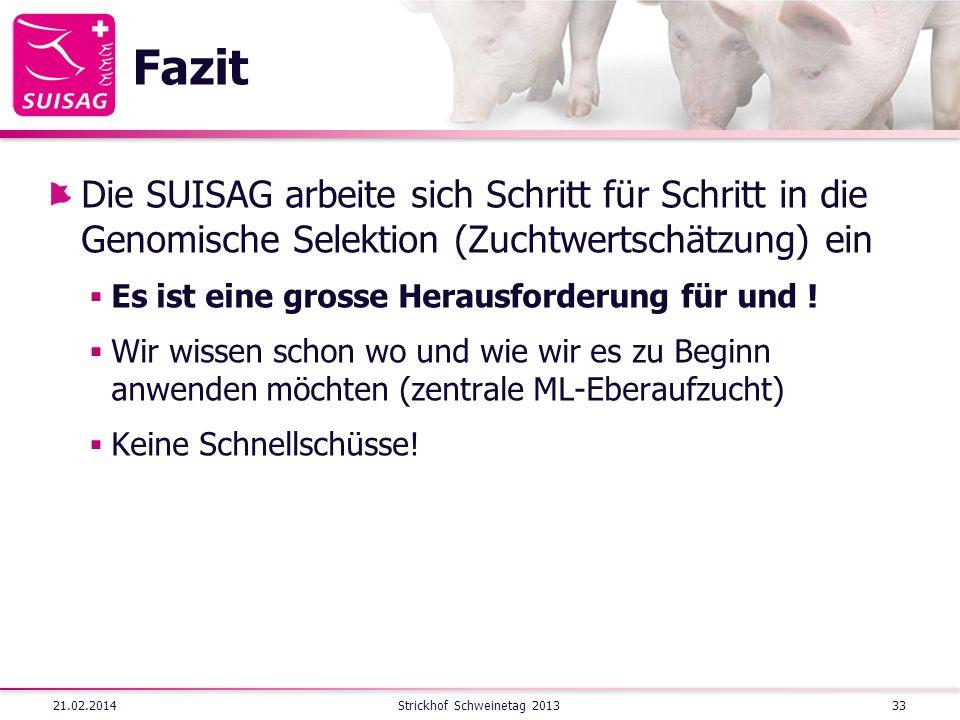 Strickhof Schweinetag 2013