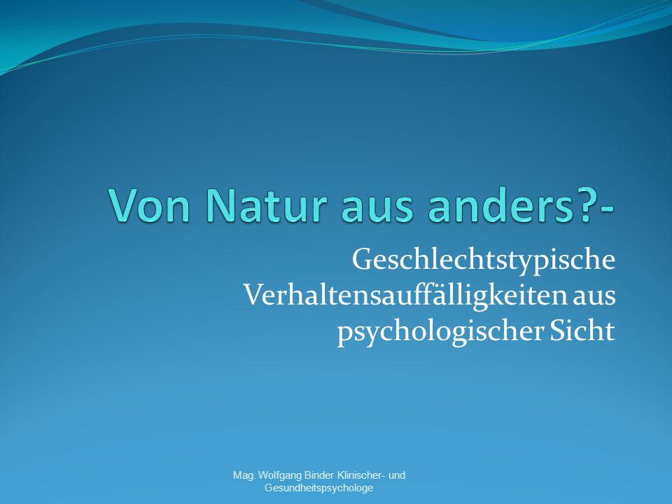 Mag. Wolfgang Binder Klinischer- und Gesundheitspsychologe