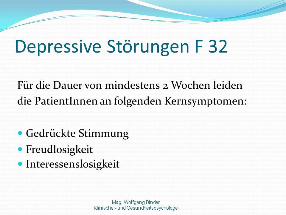 Depressive Störungen F 32