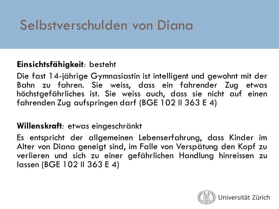 Selbstverschulden von Diana