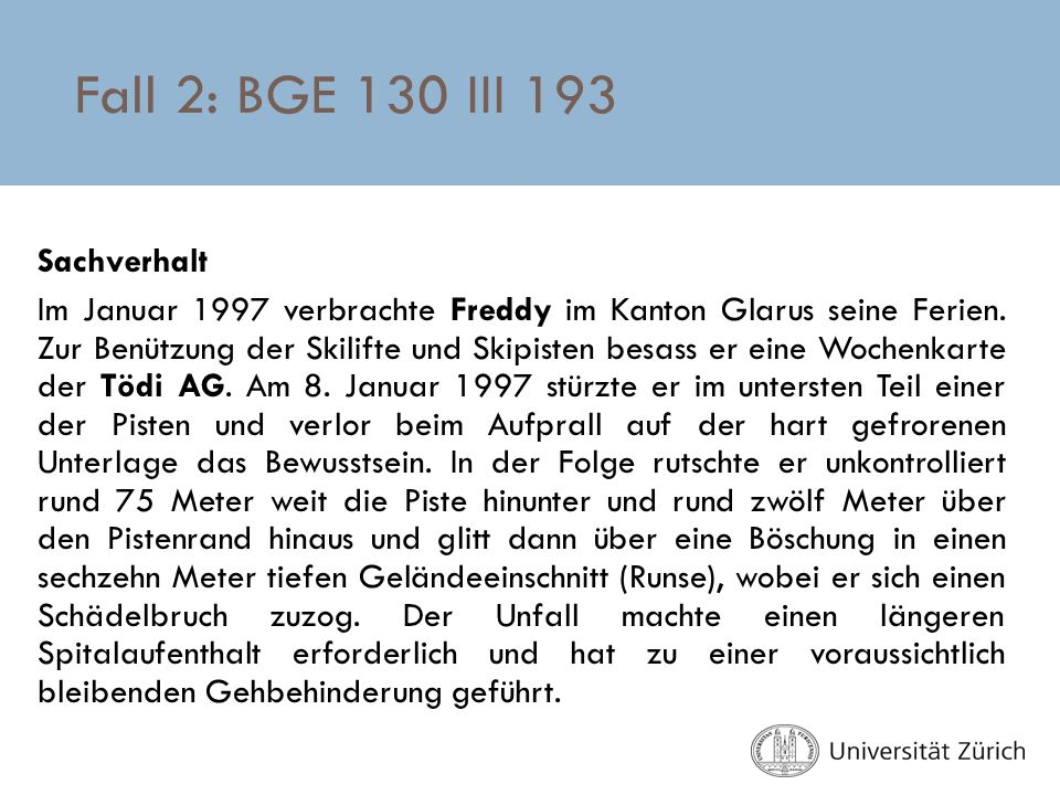 Fall 2: BGE 130 III 193