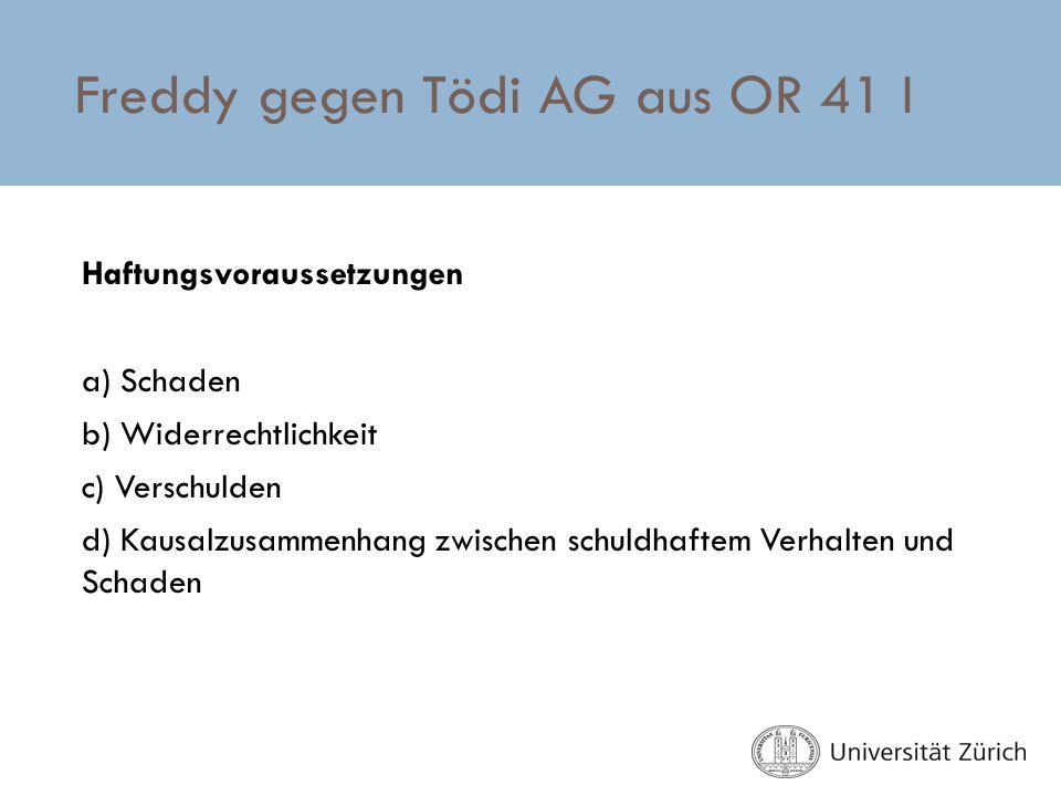 Freddy gegen Tödi AG aus OR 41 I