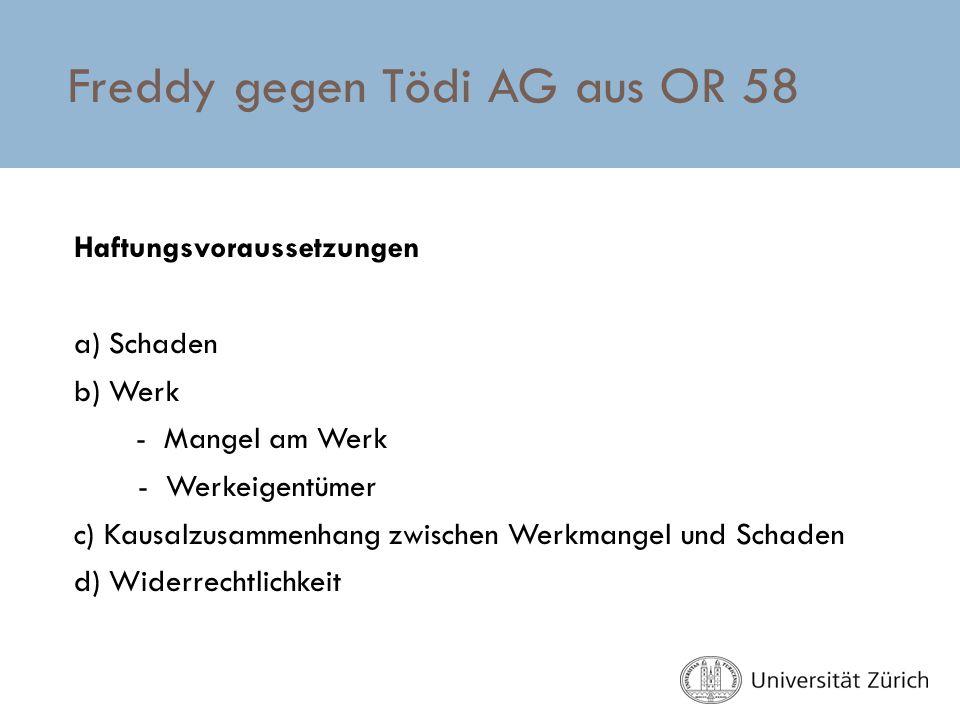 Freddy gegen Tödi AG aus OR 58