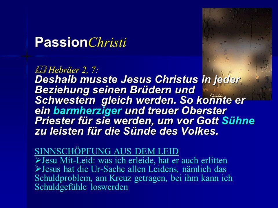 PassionChristi  Hebräer 2, 7: