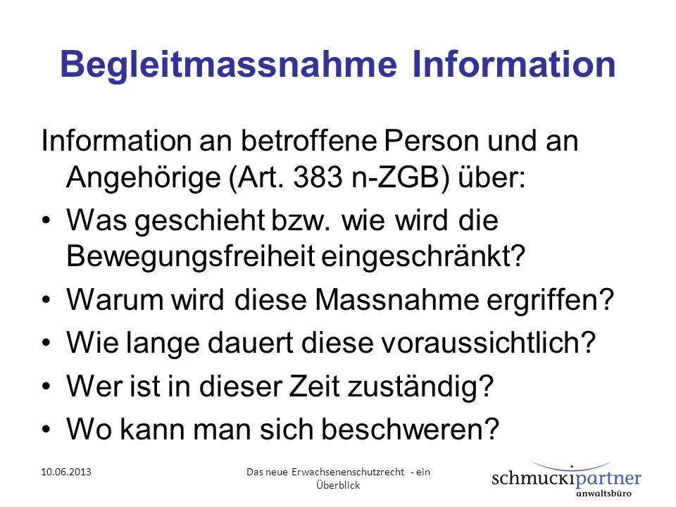 Begleitmassnahme Information