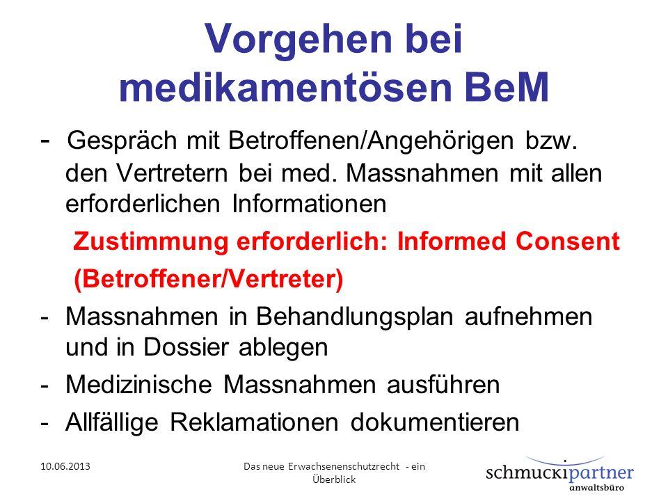 Vorgehen bei medikamentösen BeM