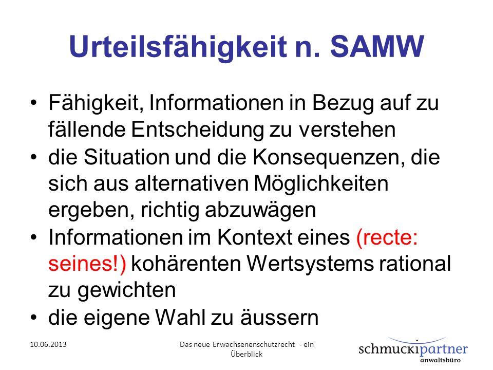 Urteilsfähigkeit n. SAMW