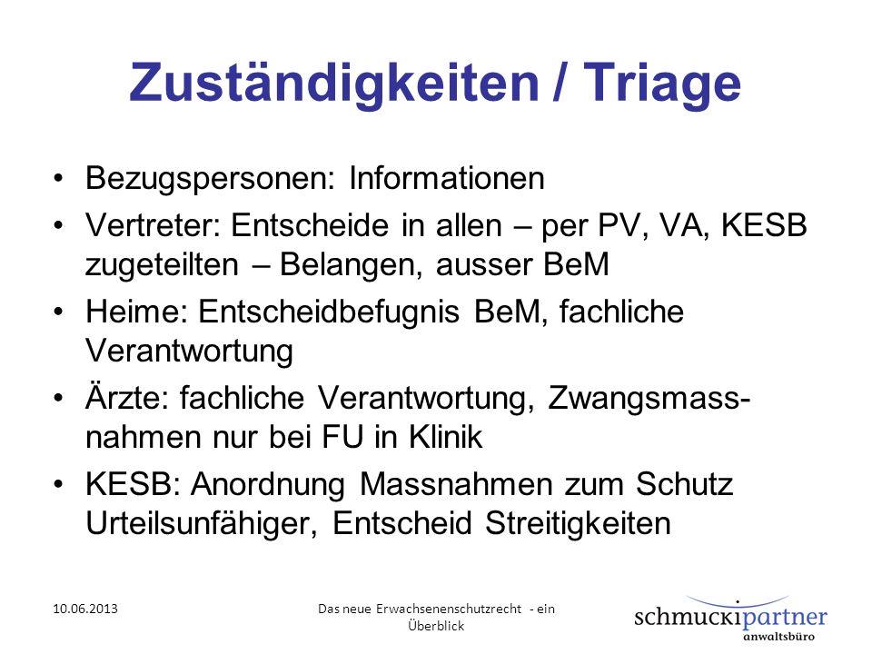 Zuständigkeiten / Triage