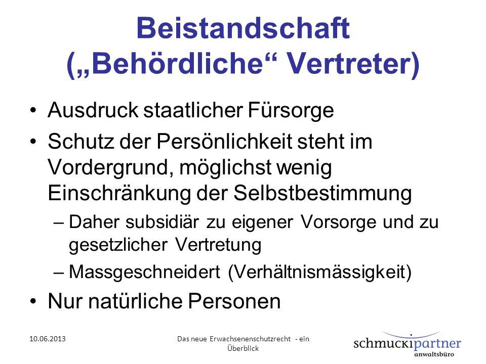 """Beistandschaft (""""Behördliche Vertreter)"""