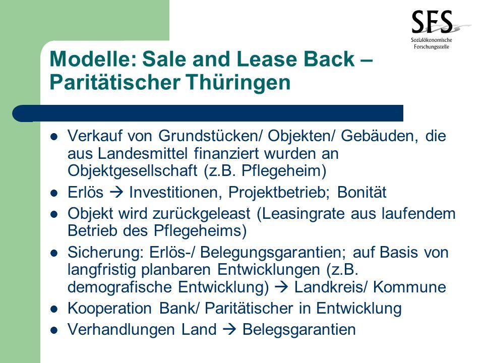 Modelle: Sale and Lease Back – Paritätischer Thüringen