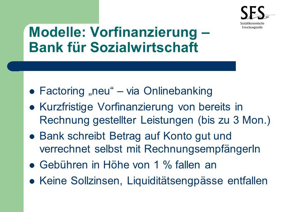 Modelle: Vorfinanzierung – Bank für Sozialwirtschaft