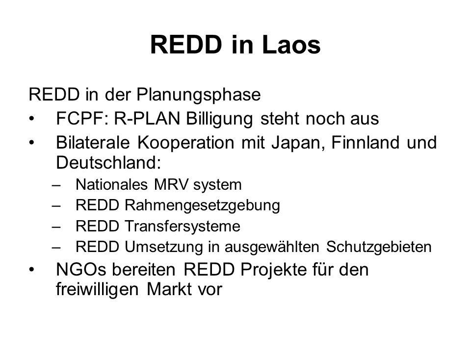 REDD in Laos REDD in der Planungsphase