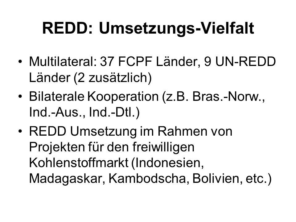 REDD: Umsetzungs-Vielfalt