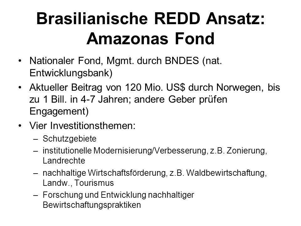 Brasilianische REDD Ansatz: Amazonas Fond