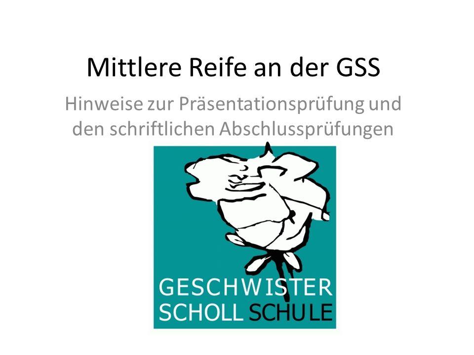 Mittlere Reife an der GSS