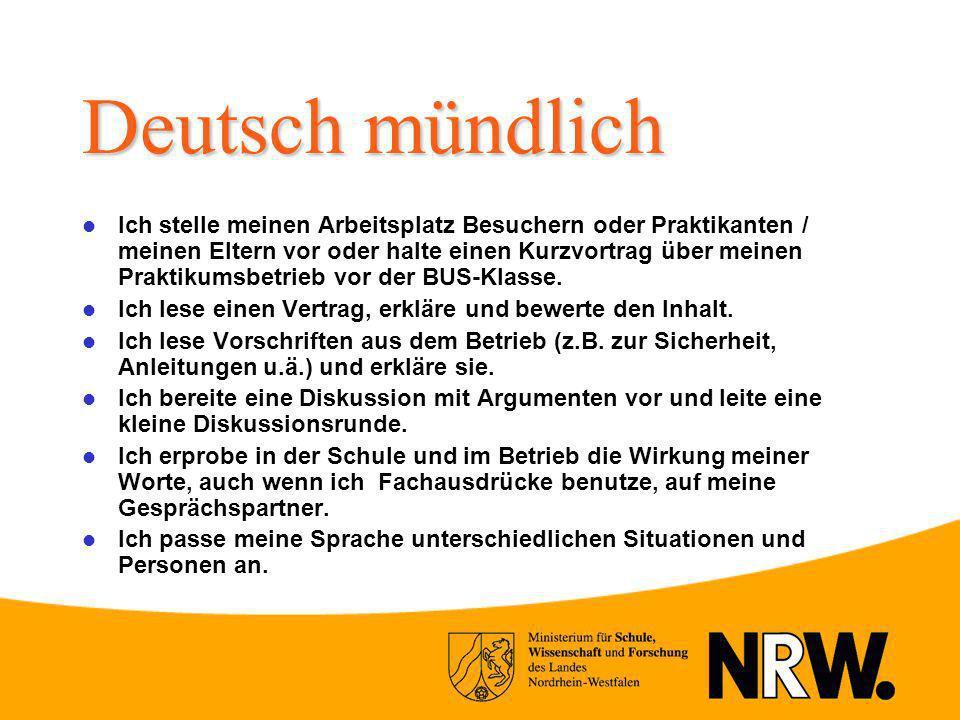 Deutsch mündlich